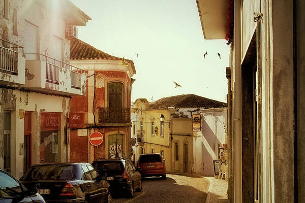 Street Art Print featuring the photograph Old street in Paderne, Portugal by Tatiana Travelways