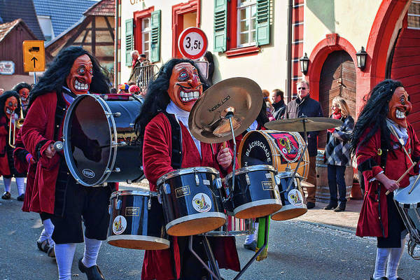 Carnival Art Print featuring the photograph Carnival Time In Germany by Tatiana Travelways