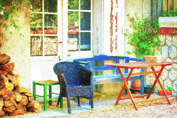 French Glass Door Art Print featuring the photograph Provence, France by Tatiana Travelways