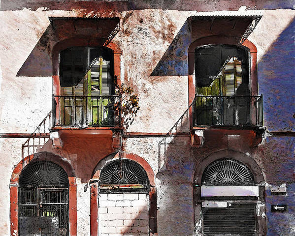 Doors Art Print featuring the photograph If the doors could talk, Casco Viejo Panama by Tatiana Travelways