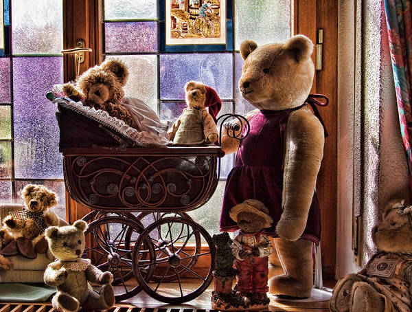 Teddy Bear Art Print featuring the photograph Teddy Bear family in Germany by Tatiana Travelways