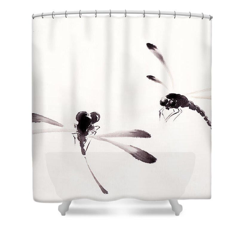 dance of the dragonflies shower curtain