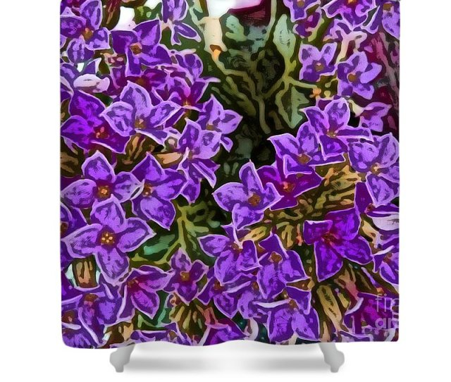 Beautiful Shower Curtain Featuring The Drawing Kalanchoe Flaming Katy Panda Plant Plush Plant
