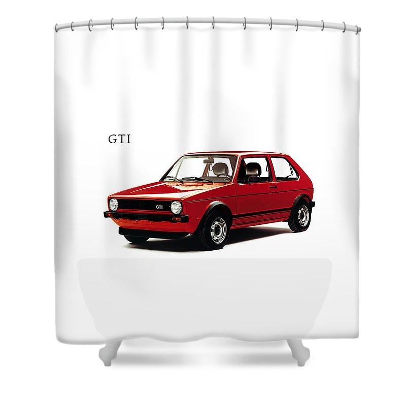 vw golf gti 1976 shower curtain