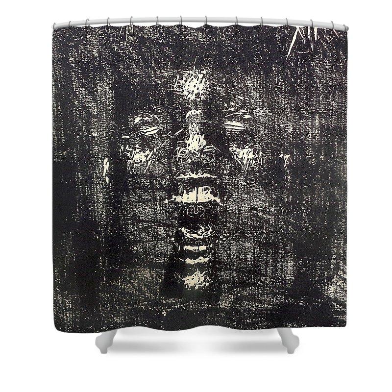 fear of death shower curtain