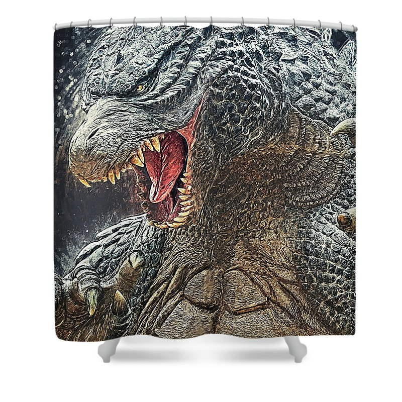 godzilla king of monsters shower curtain