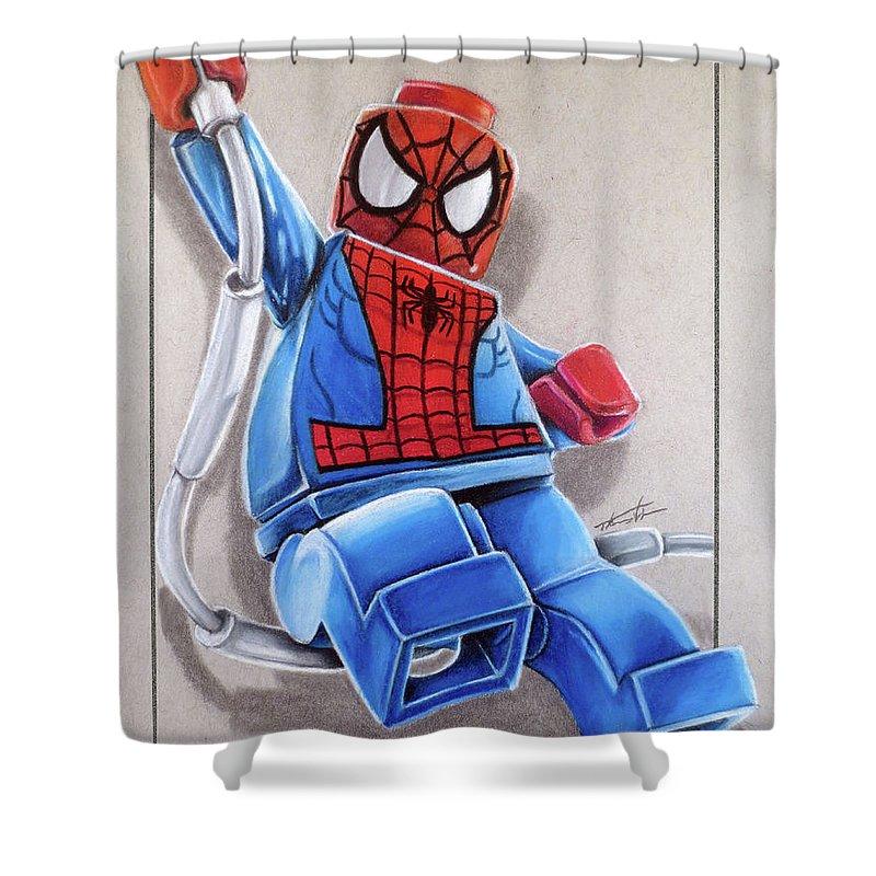lego spiderman shower curtain