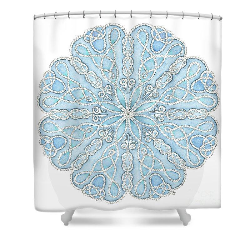 nautical mandala shower curtain