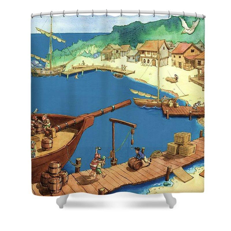pirate port shower curtain