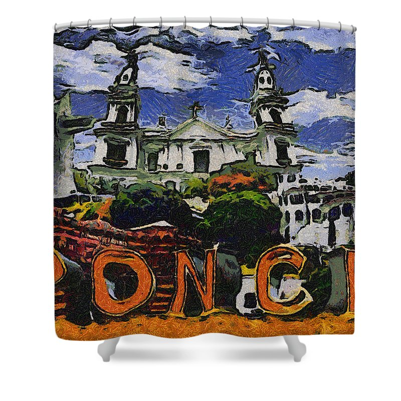 ponce puerto rico shower curtain