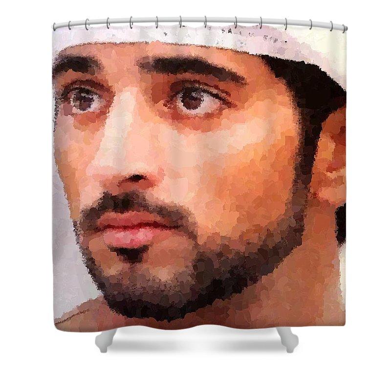 prince of dubai shower curtain