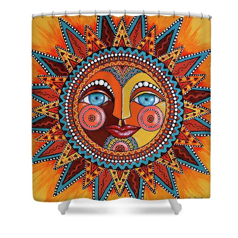 smiling sun shower curtain
