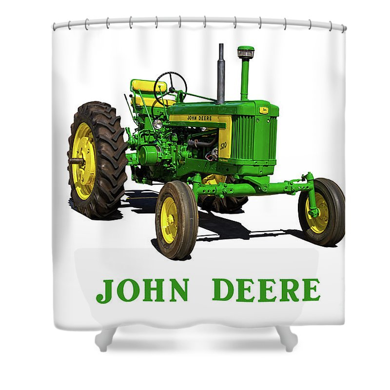 vintage john deere tractor shower curtain