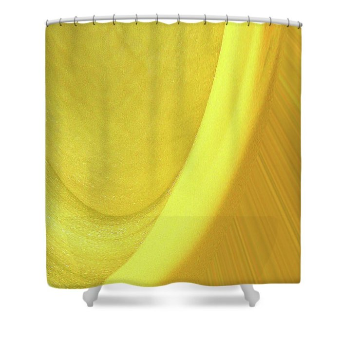 Abstract Shower Curtain featuring the photograph Yellow Abstract by Holly Morris