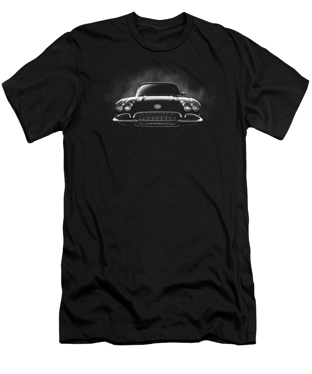 Corvette T-Shirt featuring the digital art Circa '59 by Douglas Pittman