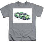 Lamborghini Huracan Gt3 Evo Racecar Ink Drawing And Watercolor Kids T Shirt For Sale By Frank Ramspott
