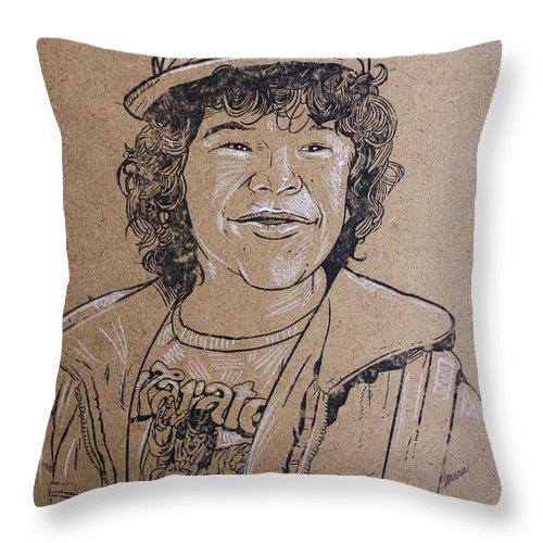 dustin henderson stranger things throw pillow