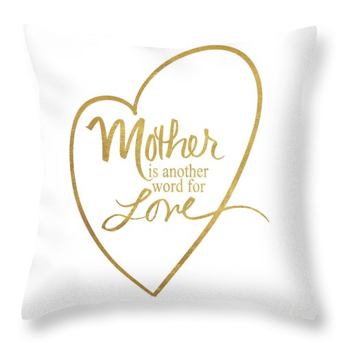 mother another word for love throw pillow