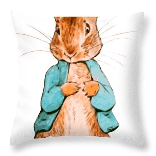 nursery characters peter rabbit beatrix potter throw pillow