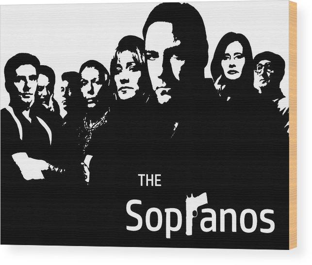 the sopranos poster wood print