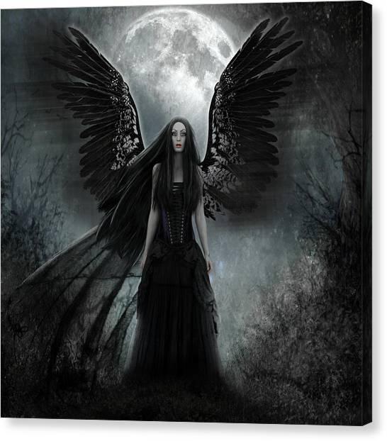 Evil Angel Canvas Print Dark Angel By Karin Claesson
