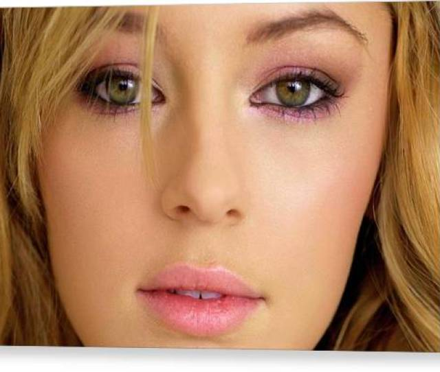 Keeley Hazell Canvas Print Keeley Hazell By Angie Fraley
