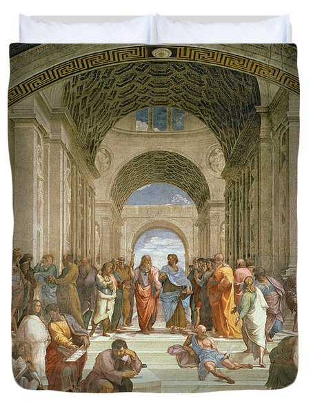 School Of Athens From The Stanza Della Segnatura Painting By Raphael