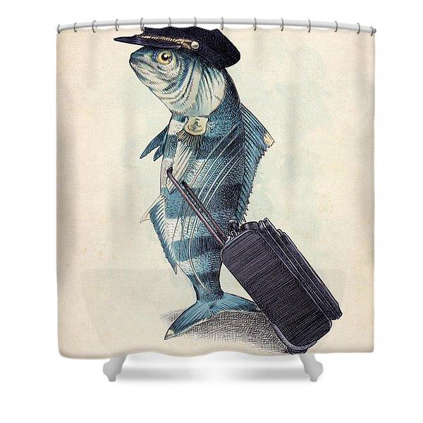 vintage travel shower curtains fine