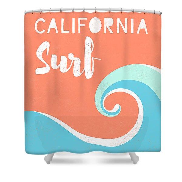 surf shower curtains pixels