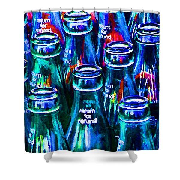 drink coca cola shower curtains pixels