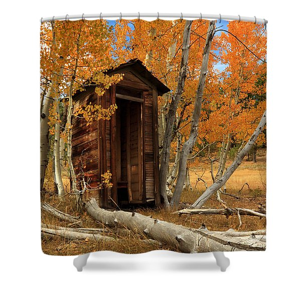 outhouses shower curtains fine art