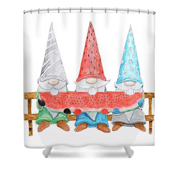 gnome shower curtains fine art america