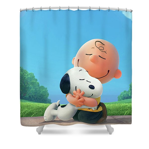 charlie brown christmas shower curtains