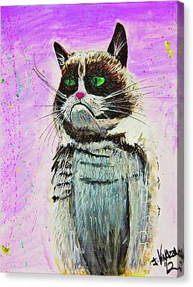 The Grumpy Cat From The Internets Canvas Print by eVol i