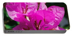 Portable Battery Charger featuring the photograph Bouganvilla, Magenta by Nancy Ayanna Wyatt