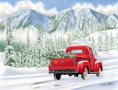 Christmas Tree Truck Paintings Fine Art America