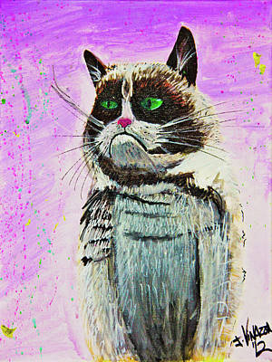 The Grumpy Cat From The Internets Art Print by eVol i