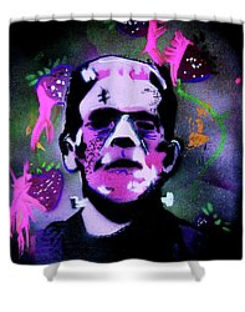 Cereal Killers - Frankenberry Shower Curtain by eVol i