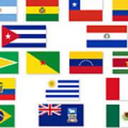 South American Flag Set Digital Art By Bigalbaloo Stock