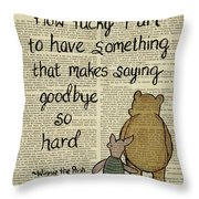 Winnie The Pooh How Lucky I Am Greeting Card For Sale By Trindira A