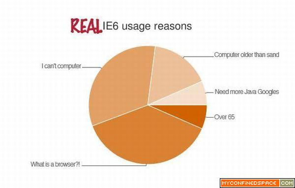Real IE6 usage reasons