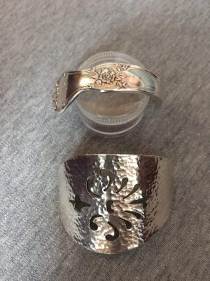 Custom serving spoon after texture and bending
