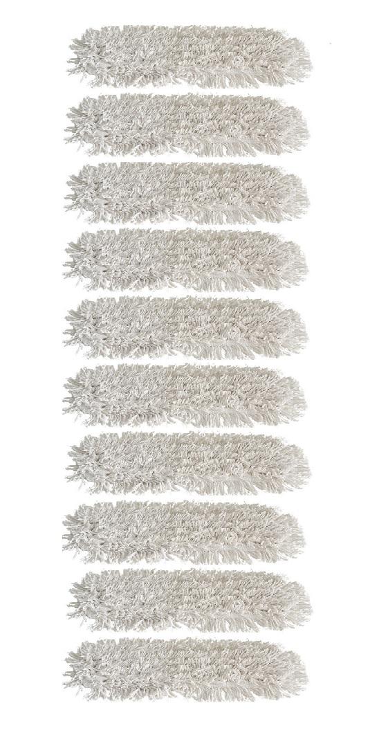 10 stk garnmoppe med lommer, 40 cm, ren bomuld