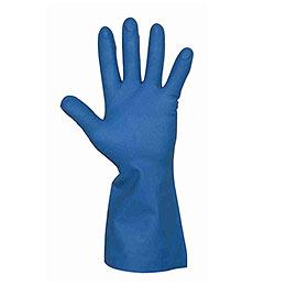 Nitrilhandske m/velour blå