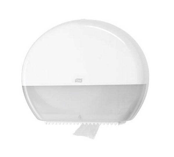 Dispenser til midi/maxi toiletruller (Hvid)