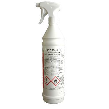 IDZ Rapid A - 1 liter, overflade desinfektion med alkohol, skal ikke eftertørres