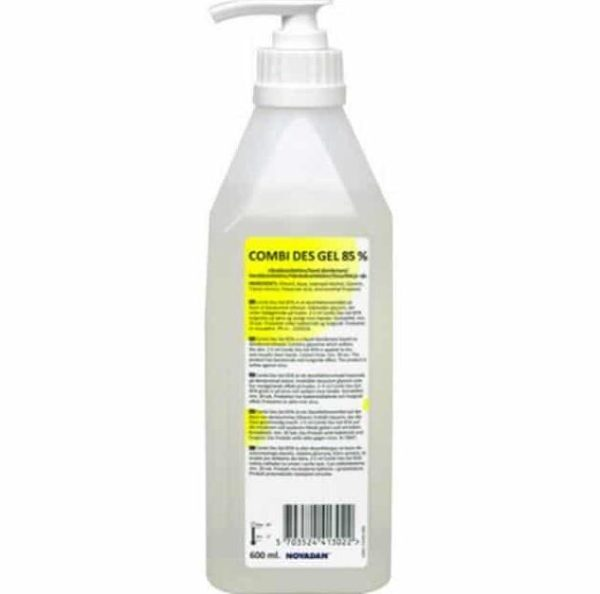 Hånddesinfektion m/glycerol, 85 %, 600 ml