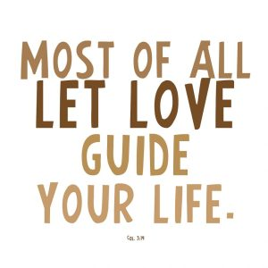 Let Love Be Our Guide