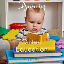 Discovering Gifted Education   Renée at Great Peace #homeschool #gifted #gtcat #ihsnet