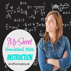 My Secret Homeschool Math Instruction for Gifted Child | Great Peace Academy